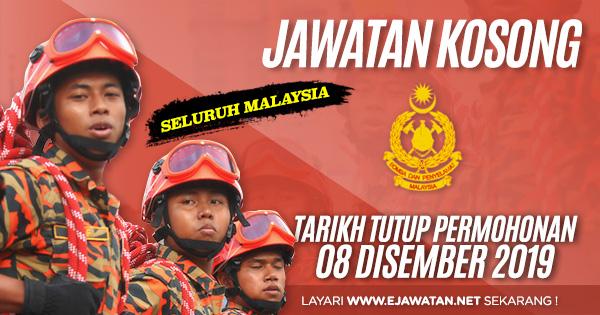 jawatan kosong JabatanBomba dan Penyelamat Malaysia 2019 2020