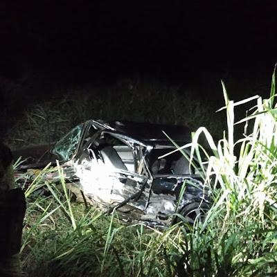 Acidente na BR-242 em Seabra deixa veículos destruídos