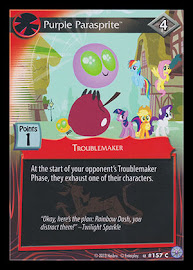My Little Pony Purple Parasprite Premiere CCG Card