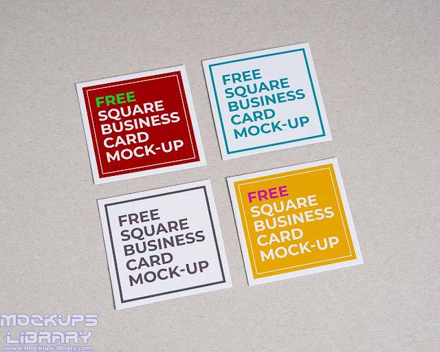 square business card mockup 3