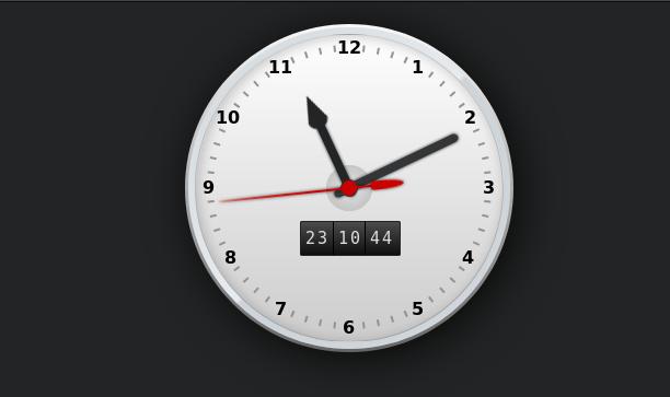 مشروع جاهز ساعة رقمية و عقارب digital clock مبنية بلغات البرمجة