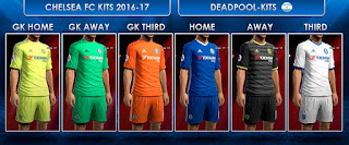 Chelsea FC Kits 2016-2017 Pes 2013 by DEADPOOL