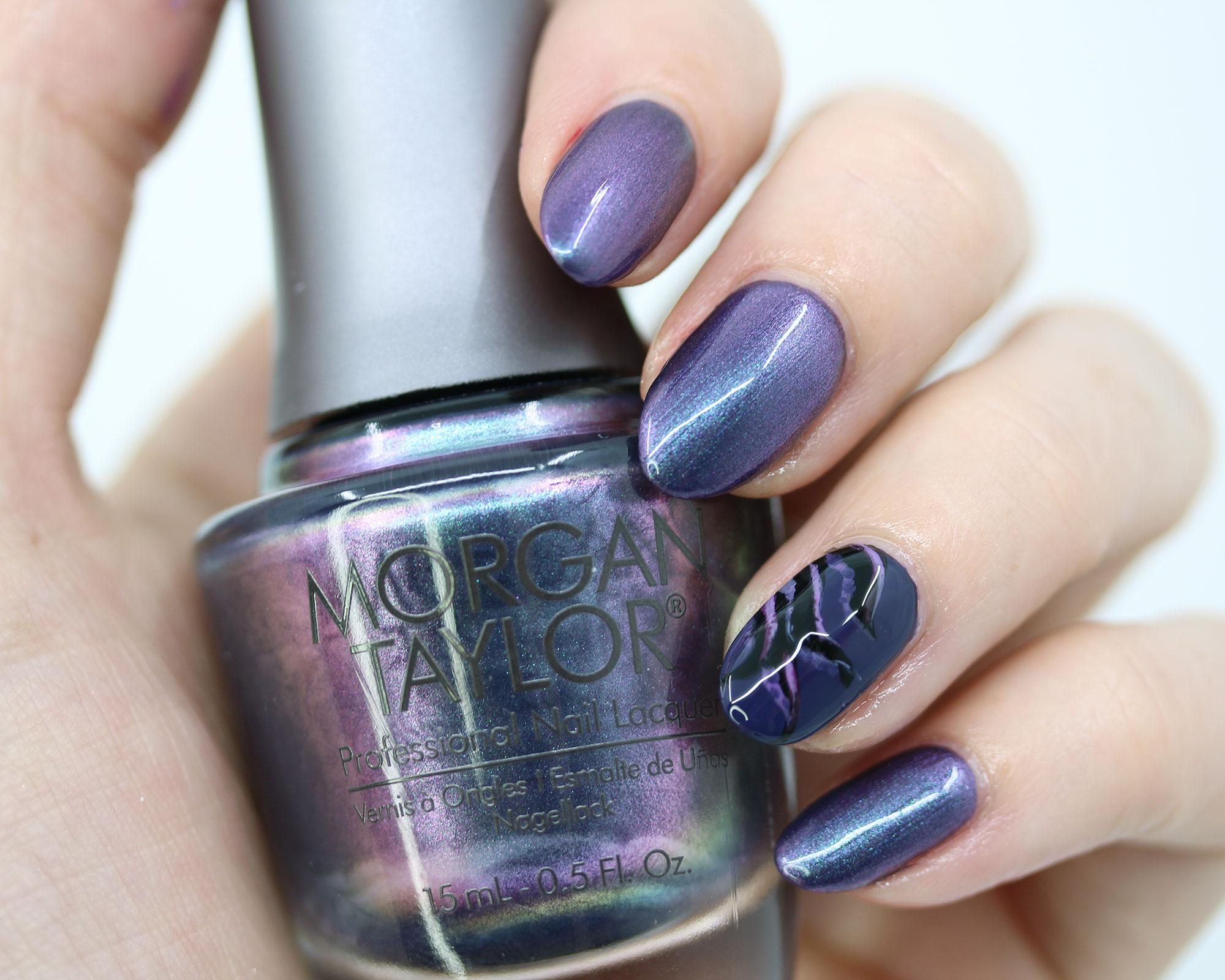 Morgan Taylor Make 'Em Squirm - Disney Ursula inspired nail polish