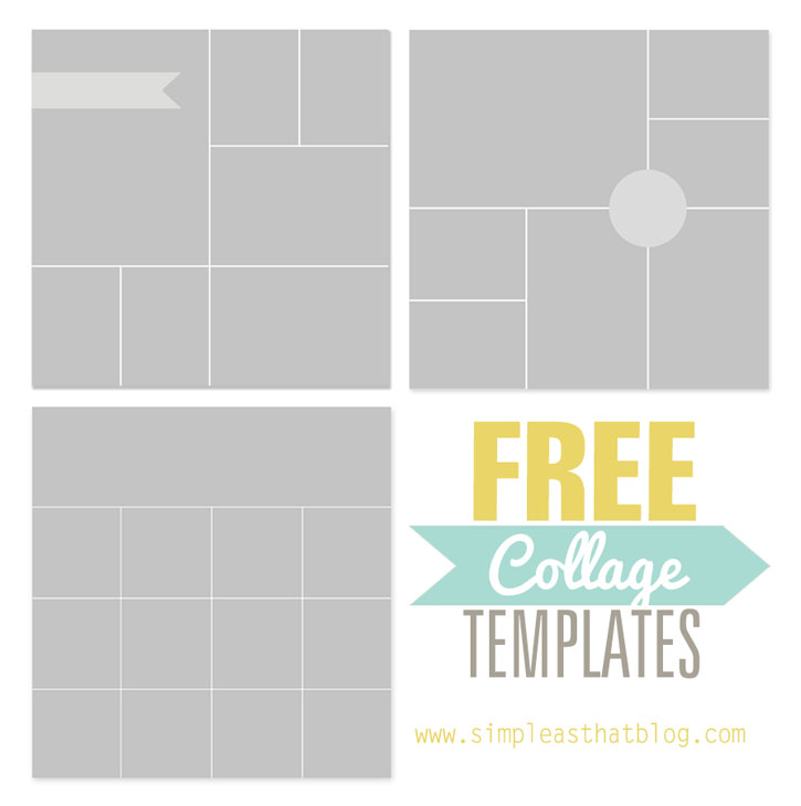 Free photo collage templates from simple as that for 4 picture collage template
