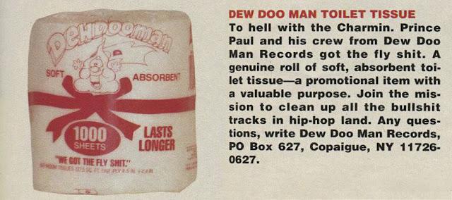 Prince Paul 'Dew Doo Man' Toilet Tissue (Promo) Hip-Hop Nostalgia