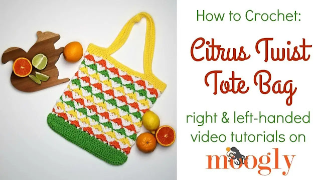 CTejidas [Crochet y Dos Agujas]: 482. Aprende a Tejer Bolso Citrus a Crochet