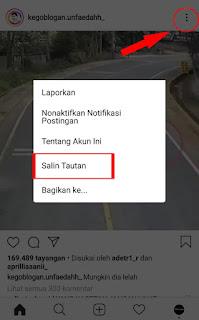 Cara simpan video instagram