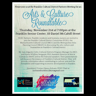 Reminder: Arts and Culture Roundtable - Nov 21