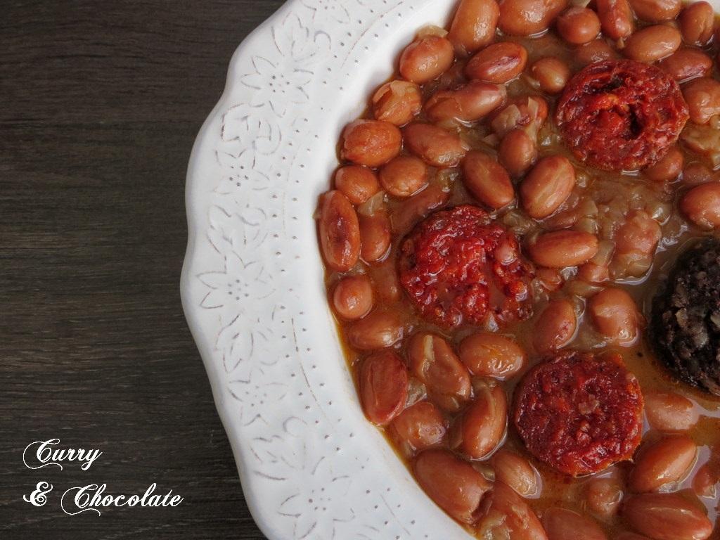 Curry y chocolate potaje de alubias pintas - Calorias alubias cocidas ...