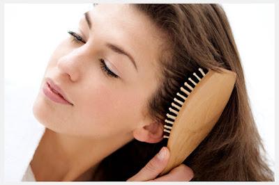 brushing hair