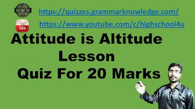 Attitude is Altitude Lesson Quiz