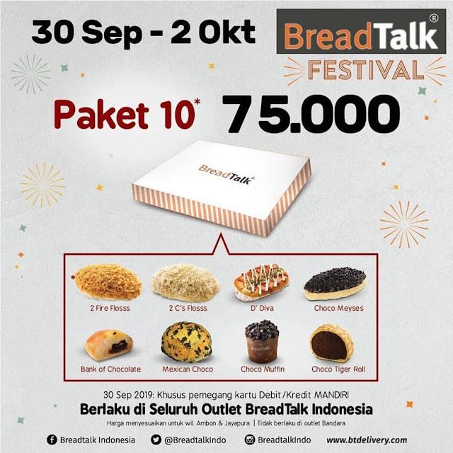 #BreadTalk - #Promo BreadTalk Festival Roti Mulai 7500 (30 - 02 Okt 2019)