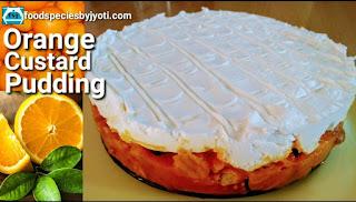 Orange Custard Pudding
