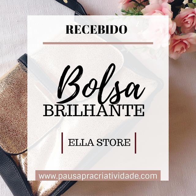 Resenha | Recebido Bolsa Transversal Brilhante - Ella Store