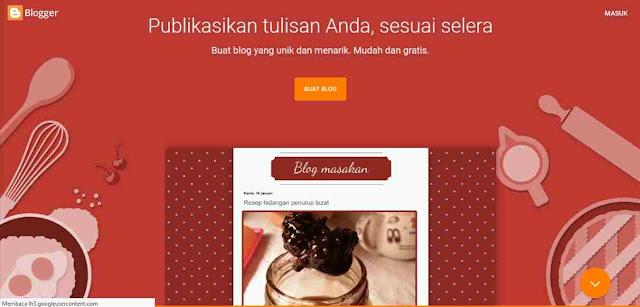 Blogger Penyedia website gratis terbaik