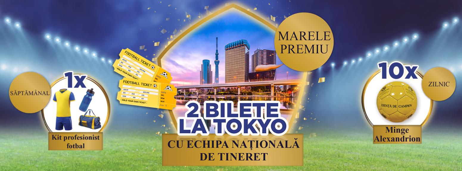 Concurs - Faci echipa cu Alexandrion - Castiga doua bilete la primul meci de fotbal al Echipei Nationalei de Tineret a Romaniei la Jocurile Olimpice de la Tokyo - castiga.net - 2021
