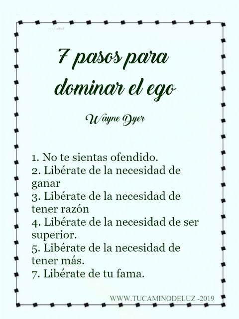 7 pasos para dominar el ego, de Wayne Dyer