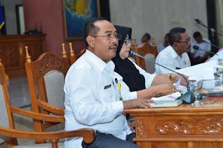 Asisten I Pemkab Lobar H. M. Ilham pada Rapim II Kabupaten Lobar