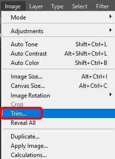 image trim photoshop