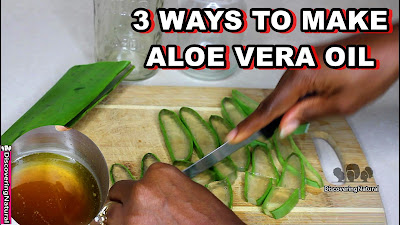 3 Ways to make Aloe Vera Oil for Hair Growth, Dandruff and Skin  | DiscoveringNatural