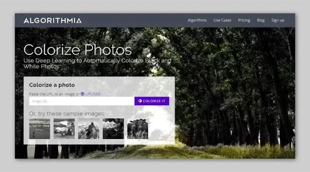 Algorithmia Colorize Photos