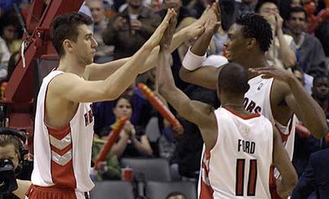 Los Toronto Raptors de 2007 con Chris Bosh y T.J. Ford al mando