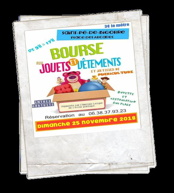 bourse aux jouets Saint-Pé-de-Bigorre 2018