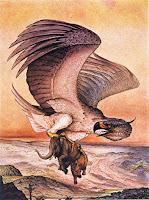 milzu putns, giant bird, latvian folklore, latvian mythology, latviešu folklora, latviešu mitoloģija, capital r, 2018, drawing