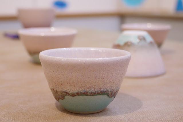 結晶釉 ぐいのみ(税込価格 ¥3,850) サイズ:口径7.0cm×高さ4.0cm