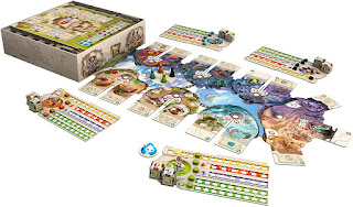 Componentes de Dice Forge the board game