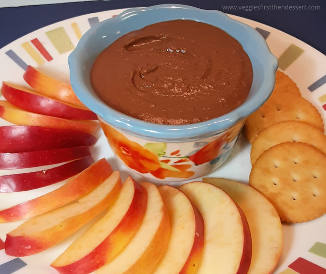 Chocolate Hummus: Veggies First Then Dessert #Choctoberfest