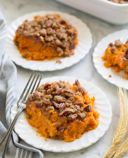 Sweet Potato Casserole #vegetarian #easy #food #cauliflower #potato