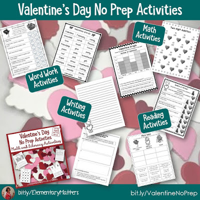 https://www.teacherspayteachers.com/Product/Valentines-Day-No-Prep-Activities-1676672?utm_source=blog%20post%20Valentine%27s%20Day&utm_campaign=Valentine%20no%20prep