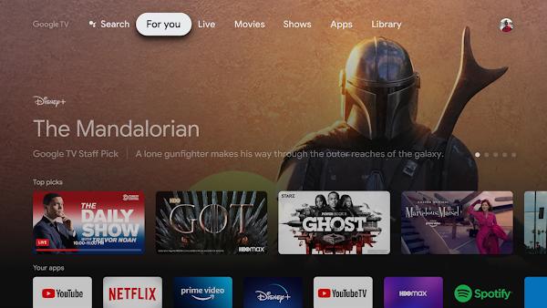 Google TV com canais gratuitos