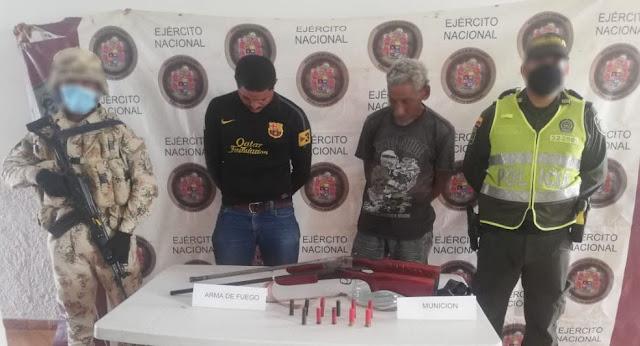 Andaban armados con escopetas calibre 16 dentro del Cerrejón