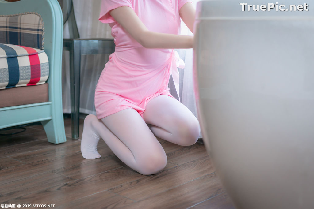 Image [MTCos] 喵糖映画 Vol.033 – Chinese Cute Model - Pink Nurse Cosplay - TruePic.net - Picture-7