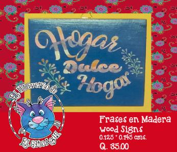 El universo del gato azul frases en madera wood signs for Universo del hogar