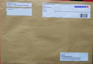 Contoh Format Penulisan Amplop Surat