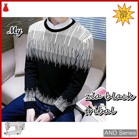 AND414 Sweater Pria Zia Hitam Tribal BMGShop