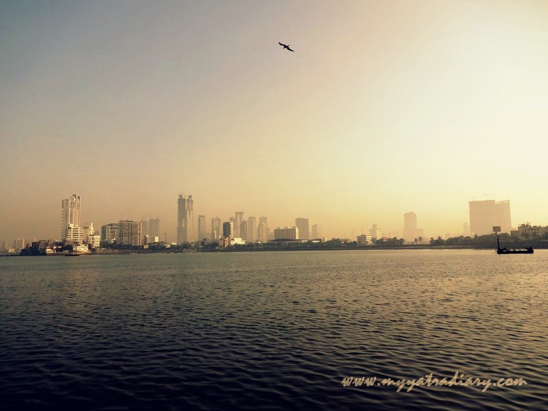 Worli seaface as seen from the Haji Ali Causeway.