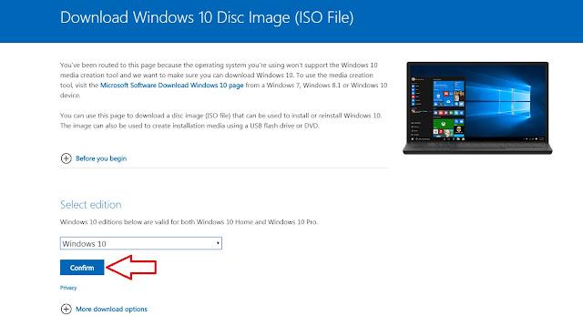 Hoàn thành lựa chọn bản Windows 10 mới nhất để download