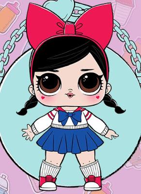 Леди аниме из серии кукол в шарах LOL Surprise Series 2