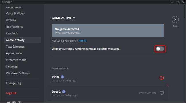 لعبة عرض Discord