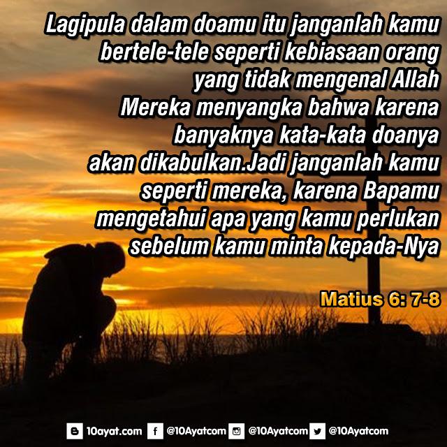 Matius 6: 7-8