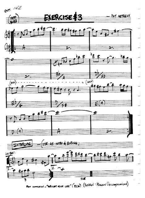 Partitura Flauta Pat Metheny