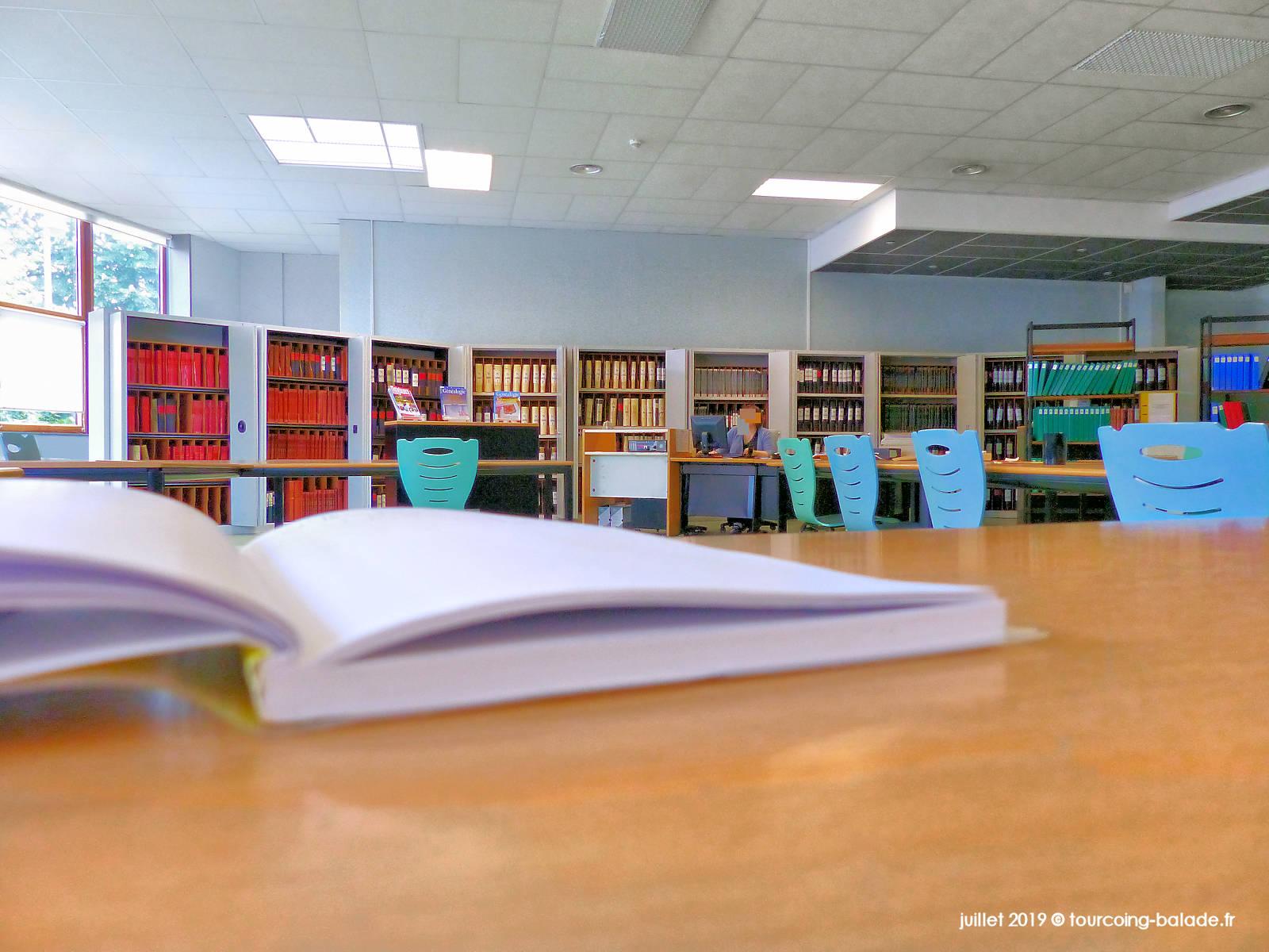 Archives municipales Tourcoing - Salle d'étude