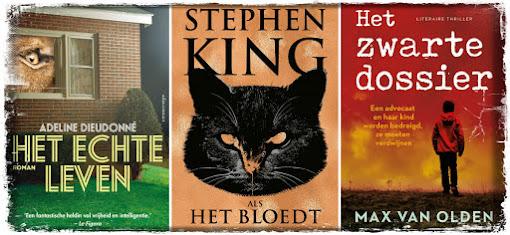 Adeline Dieudonné, Het echte leven, Atlas Contact, Stephen King, Als het bloedt, De Boekerij, Max van Olden, Het zwarte dossier, Ambo|Anthos