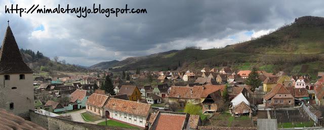 Vistas de Biertan desde la iglesia fortificada