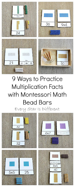 9 Ways to Practice Multiplication Facts with Montessori Math Bead Bars