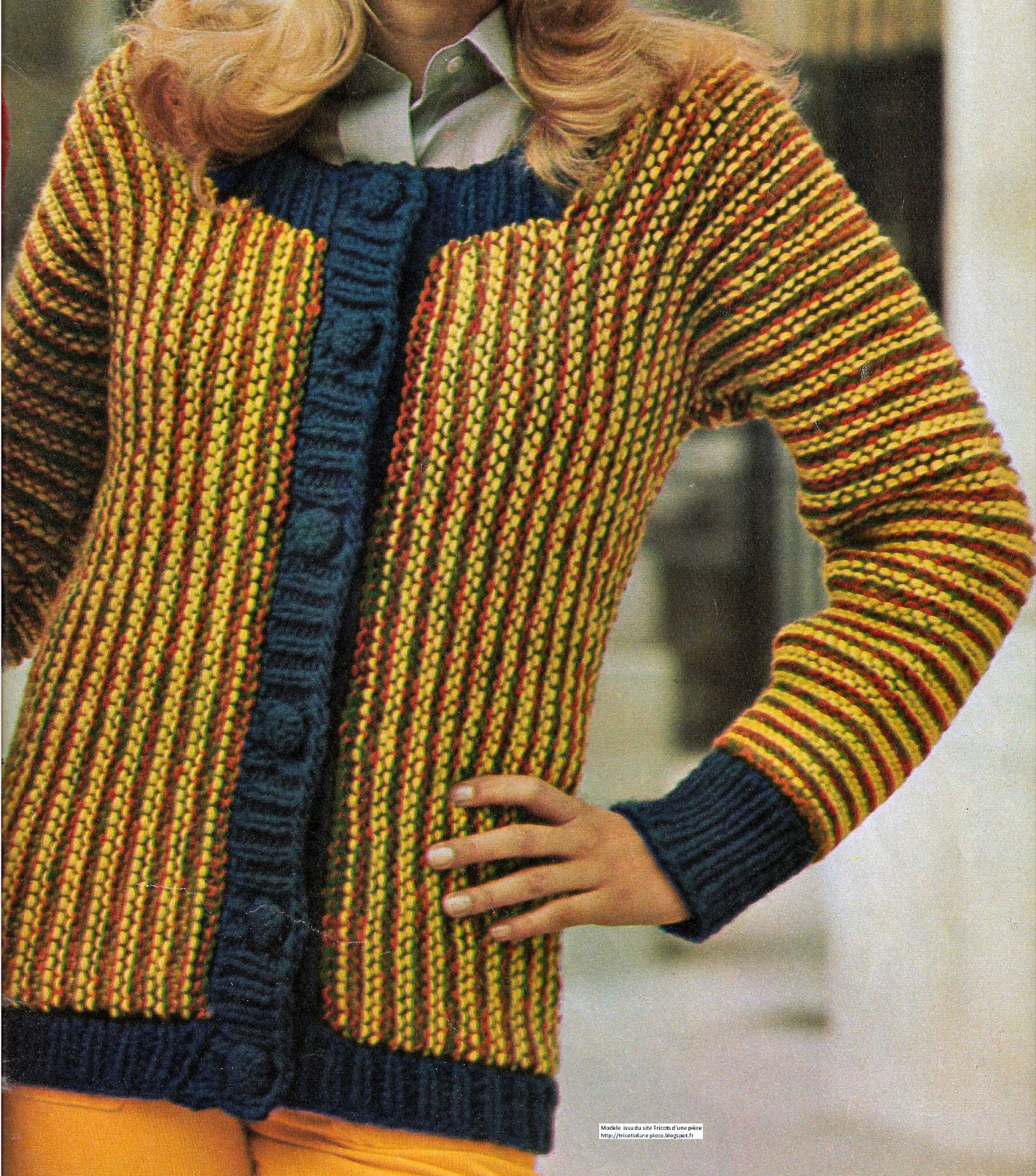 Blouson pour femme tricot d 39 une seule pi ce aux aiguilles - Differents points de tricot ...